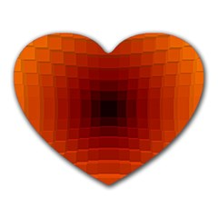 Orange Background Wallpaper Texture Lines Heart Mousepads