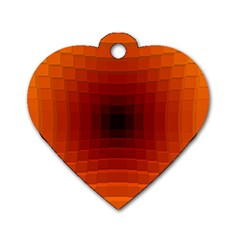 Orange Background Wallpaper Texture Lines Dog Tag Heart (one Side)