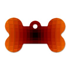 Orange Background Wallpaper Texture Lines Dog Tag Bone (two Sides)