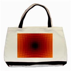 Orange Background Wallpaper Texture Lines Basic Tote Bag (two Sides)