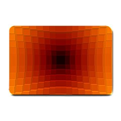 Orange Background Wallpaper Texture Lines Small Doormat