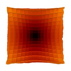 Orange Background Wallpaper Texture Lines Standard Cushion Case (two Sides)