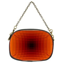 Orange Background Wallpaper Texture Lines Chain Purses (two Sides)