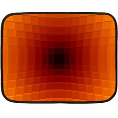 Orange Background Wallpaper Texture Lines Double Sided Fleece Blanket (Mini)
