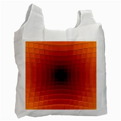 Orange Background Wallpaper Texture Lines Recycle Bag (two Side)