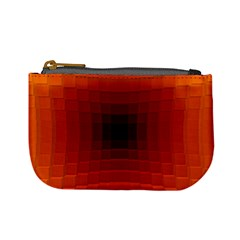 Orange Background Wallpaper Texture Lines Mini Coin Purses