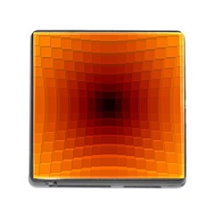 Orange Background Wallpaper Texture Lines Memory Card Reader (square)
