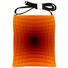Orange Background Wallpaper Texture Lines Shoulder Sling Bags