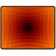 Orange Background Wallpaper Texture Lines Fleece Blanket (medium)