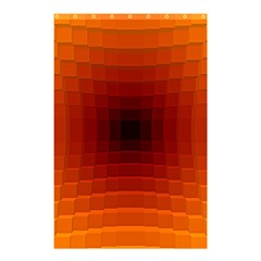 Orange Background Wallpaper Texture Lines Shower Curtain 48  X 72  (small)