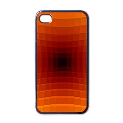 Orange Background Wallpaper Texture Lines Apple Iphone 4 Case (black)