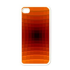 Orange Background Wallpaper Texture Lines Apple Iphone 4 Case (white)