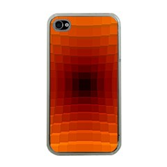 Orange Background Wallpaper Texture Lines Apple Iphone 4 Case (clear)
