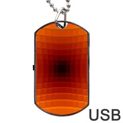 Orange Background Wallpaper Texture Lines Dog Tag Usb Flash (one Side)