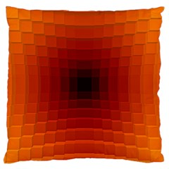 Orange Background Wallpaper Texture Lines Large Cushion Case (two Sides)