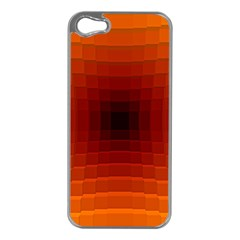 Orange Background Wallpaper Texture Lines Apple Iphone 5 Case (silver)