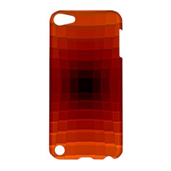Orange Background Wallpaper Texture Lines Apple Ipod Touch 5 Hardshell Case
