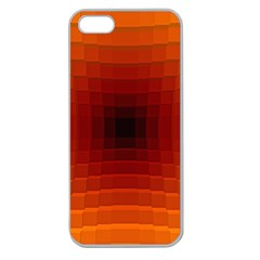Orange Background Wallpaper Texture Lines Apple Seamless Iphone 5 Case (clear)