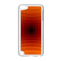 Orange Background Wallpaper Texture Lines Apple Ipod Touch 5 Case (white)