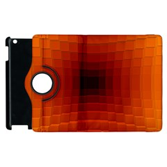 Orange Background Wallpaper Texture Lines Apple Ipad 2 Flip 360 Case