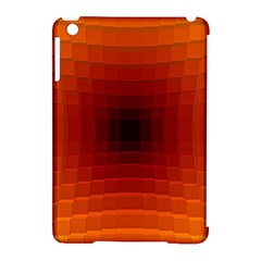 Orange Background Wallpaper Texture Lines Apple Ipad Mini Hardshell Case (compatible With Smart Cover)