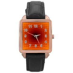 Orange Background Wallpaper Texture Lines Rose Gold Leather Watch
