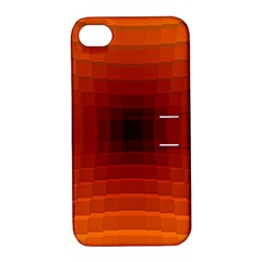 Orange Background Wallpaper Texture Lines Apple Iphone 4/4s Hardshell Case With Stand