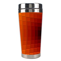 Orange Background Wallpaper Texture Lines Stainless Steel Travel Tumblers