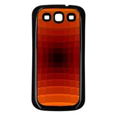 Orange Background Wallpaper Texture Lines Samsung Galaxy S3 Back Case (black)