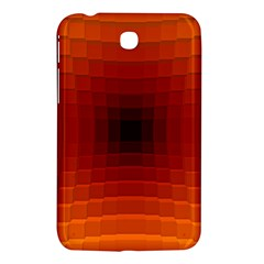 Orange Background Wallpaper Texture Lines Samsung Galaxy Tab 3 (7 ) P3200 Hardshell Case