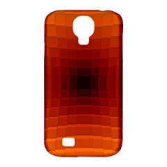 Orange Background Wallpaper Texture Lines Samsung Galaxy S4 Classic Hardshell Case (pc+silicone)