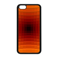 Orange Background Wallpaper Texture Lines Apple Iphone 5c Seamless Case (black)