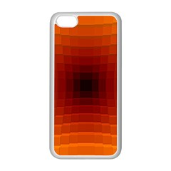 Orange Background Wallpaper Texture Lines Apple Iphone 5c Seamless Case (white)