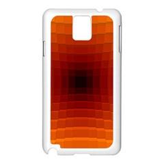 Orange Background Wallpaper Texture Lines Samsung Galaxy Note 3 N9005 Case (white)