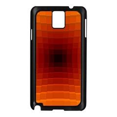 Orange Background Wallpaper Texture Lines Samsung Galaxy Note 3 N9005 Case (black)