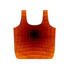 Orange Background Wallpaper Texture Lines Full Print Recycle Bags (S)
