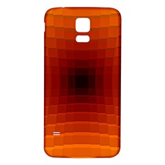 Orange Background Wallpaper Texture Lines Samsung Galaxy S5 Back Case (white)