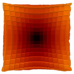 Orange Background Wallpaper Texture Lines Large Flano Cushion Case (one Side)