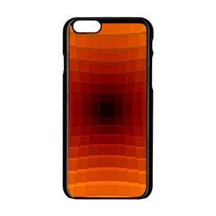 Orange Background Wallpaper Texture Lines Apple Iphone 6/6s Black Enamel Case