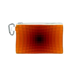 Orange Background Wallpaper Texture Lines Canvas Cosmetic Bag (s)