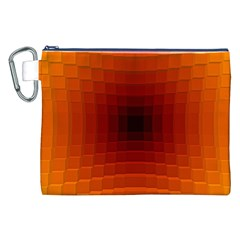 Orange Background Wallpaper Texture Lines Canvas Cosmetic Bag (xxl)