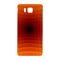 Orange Background Wallpaper Texture Lines Samsung Galaxy Alpha Hardshell Back Case