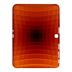 Orange Background Wallpaper Texture Lines Samsung Galaxy Tab 4 (10 1 ) Hardshell Case