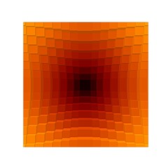 Orange Background Wallpaper Texture Lines Small Satin Scarf (square)