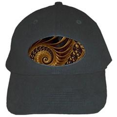 Fractal Spiral Endless Mathematics Black Cap