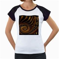 Fractal Spiral Endless Mathematics Women s Cap Sleeve T