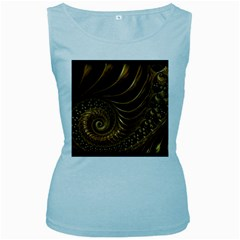 Fractal Spiral Endless Mathematics Women s Baby Blue Tank Top