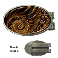 Fractal Spiral Endless Mathematics Money Clips (oval)