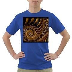 Fractal Spiral Endless Mathematics Dark T-Shirt