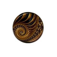 Fractal Spiral Endless Mathematics Hat Clip Ball Marker